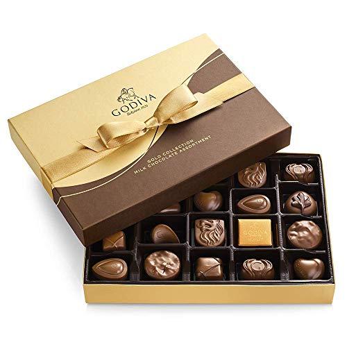 GODIVA Chocolatier Gift Box, Milk Chocolate, Milk-Chocolate 22.0 Count