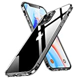 Humixx Stoßfest Hülle Kompatibel mit iPhone 12 und iPhone 12 Pro (6,1 Zoll) -Transparent