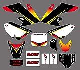 Motocross Pegatinas Kits de Etiqueta de la Etiqueta de los gráficos y de Fondo para Honda CRF50 CRF50F 2004-2012 2006 2008 2008 2010 2011 Fit Dirt Bike CRF 50 50F