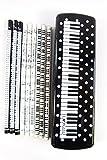 Paquet de 15 crayons Musique thématiques (conception 3) à taches blanches touches noires du piano plastique PVC Trousses Set