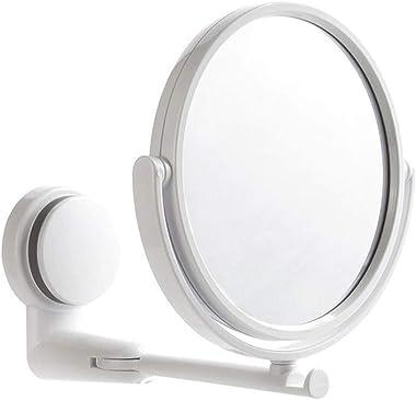 WBFN Decorative Mirrors, Double Side Bathroom Wall Mirror Cosmetics Makeup 360 Swivel Mirror Decor Wall Suction Folding Mirro