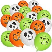 LEUCHTENDE BALLONS: Die von innen beleuchteten Luftballons sind auf jeder Feier bei Jung und Alt als Partydeko das absolute Highlight! LUSTIGE MOTIVE: Die Gesichter von Geistern, Kürbissen und Frankensteins Monstern passen optimal zu Halloween und äh...