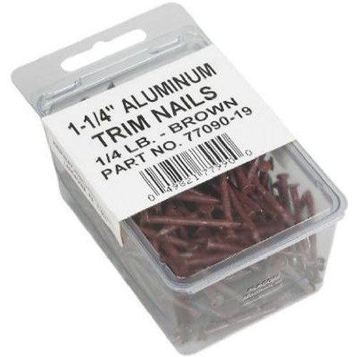 AMERIMAX HOME PRODUCTS 7709019 1-1/4-Inch Trim Nails, Brown by Amerimax Home Products