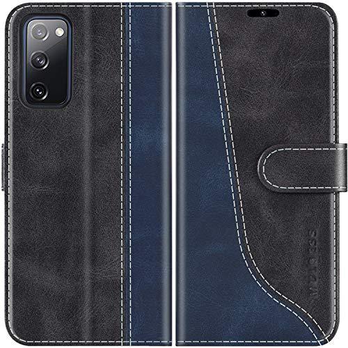 Mulbess Handyhülle für Samsung Galaxy S20 FE Hülle, Samsung S20 FE Hülle Leder, Etui Flip Handytasche Schutzhülle für Samsung Galaxy S20 FE 5G / S20 Lite Hülle, Schwarz
