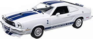 New 1:18 CHARLIE'S ANGELS - WHITE 1976 FORD MUSTANG COBRA II Diecast Model Car By Greenlight