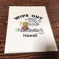 ハワイ スヌーピー クリアファイル ブルー ホノルル ワイキキ モニ
