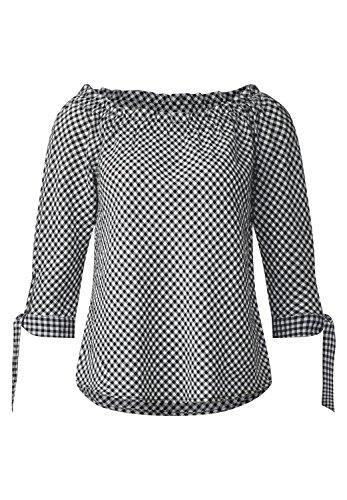 Street One Damen 340881 Bluse, Mehrfarbig (Black 20001), 36