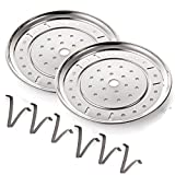 10 Inch Food Steam Rack(2-Pack)Pressure Cooker Canner Rack Detachable Legs Stainless Steel Canning Rack for Pressure Canner Rack Pot Steam Basket Rack Accessories (254mm)