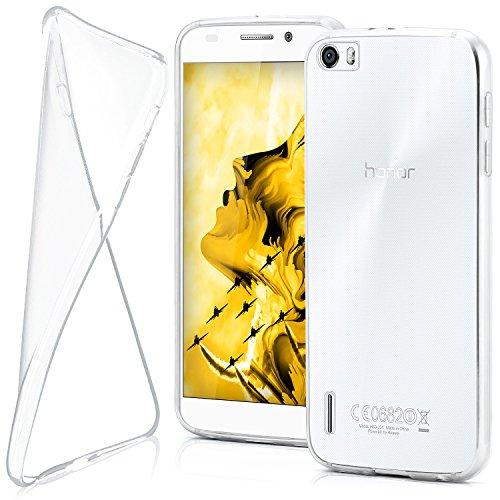 Ultra-Clear Case [Vollständig Transparent] passend für Huawei Honor 6   rutschfest und extrem dünn - Fast unsichtbar, Klar