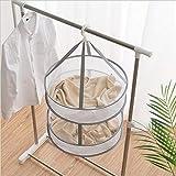 物干しネット 洗濯ネット 洗濯干しネット 2段 折りたたみ式 ネット コンパクト ニット セーター ぬいぐるみ 枕 平干し