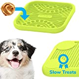 Mozy Lick Puzzle for Dogs – More Licking Fun, More Durable Mat, and Less Mess (Premium Lime – One Pack)