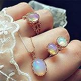 Jovono Fashion - Juego de collar y pendientes con colgante de diamantes de imitación para cumpleaños y amistad, regalo para el día de la madre