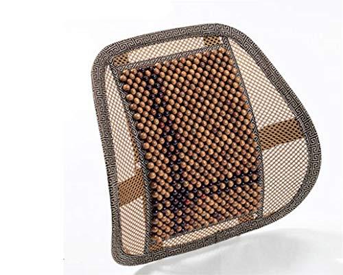 JIEER-C Ergonomische stoel autostoel bureaustoel, lendensteun stoel, rugleuning taille massage, zwart mesh ventilatiekussen voor pijnverlichting, correctie van zitpositie, bruin A1.