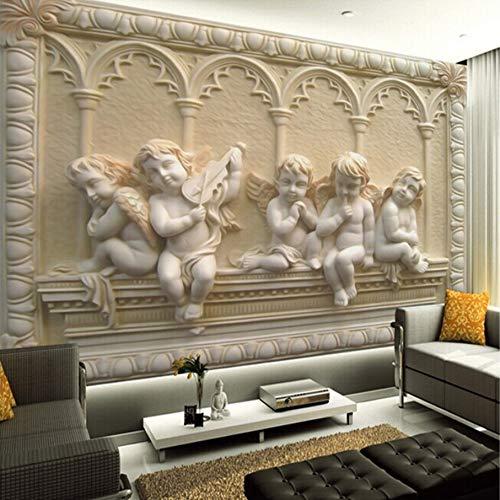 3D Murales Papel Pintado Pared Calcomanías Decoraciones Relieve De Estilo Europeo Jade, Sala De Estar, Decoración De Fondo, Dormitorio Art º Chicas Dormitorios (W)140X(H)100Cm