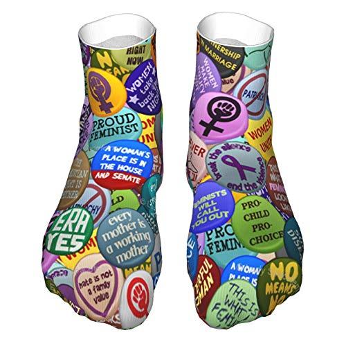 Calcetines de corte bajo que absorben la humedad, calcetines de tobillo deportivos casuales para mujeres y hombres feministas activistas calcetines suaves, bota Socklk