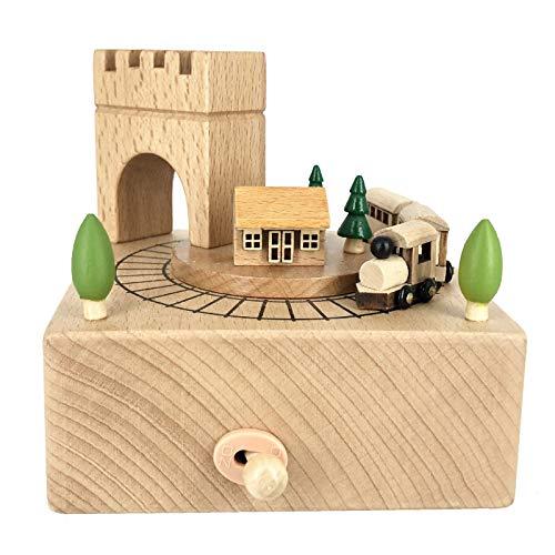 Caja de música de madera, hecha a mano, hecha a mano, sin batería, regalo de Navidad, San Valentín, Acción de Gracias, cumpleaños, Día del Niño, aniversarios