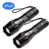 AUSPICE Flashlight, LED Tactical Flashlight 5 Lights Modes, Ultra-bright Zoom Function and IP65 Waterproof Handheld Flashlights, 18650 Bright Flashlight Perfect for Camping, Hiking & Daily Using