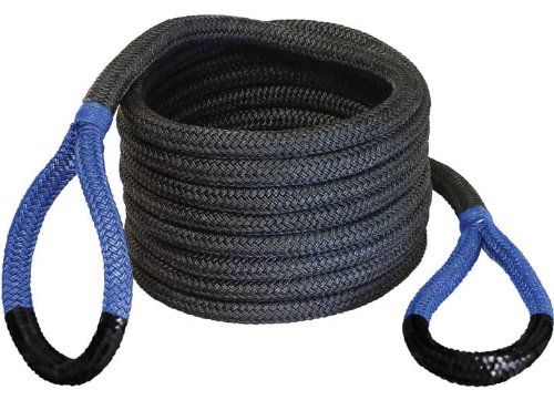 """Bubba Rope Power Stretch Recovery Rope, 7/8"""" x 20 ft. – Heavy-Duty Vehicle Recovery Rope: 28,600 lbs. Breaking Strength - Blue"""