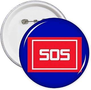 Lot de 5 badges d'urgence SOS - Art déco