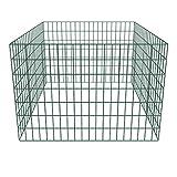 mewmewcat Metall Zaun Drahtgeflecht Gartenzaun Gitterzaun Zaunelemente für Gartenkomposthaufen Quadratmaschenzaun Stahl 100 x 100 x 70 cm