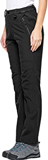 Women's Windproof Waterproof Soft Shell Pants Warm Fleece Hiking Mountain Outdoor Pants