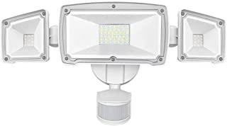 Harmonic LED Security Lights Outdoor 4000LM, 42W 6000K Super Bright Motion Sensor Light, 3 Adjustable Head, IP65 Waterproof Flood Light Outdoor for Entryways, Stairs, Yard and Garage