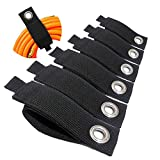 6PCS Upgrade Extension Cord Organizer - Hook and Loop Heavy-Duty Straps, Cord Wrap Keeper, Cable Straps for Cords, Hoses, Rope, RV, Boat and Garage Storage and Organization