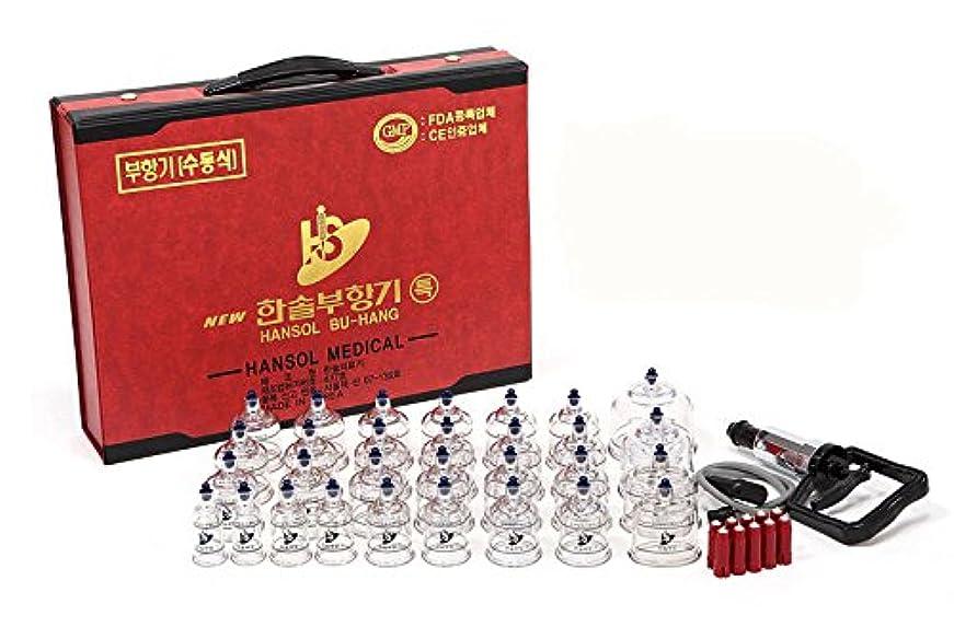 規模分ウミウシEMS特急配送-ハンソル(HANSOL)カッピング (プハン)セット-カップ7種類 30個 つぼ押しピン10本付き