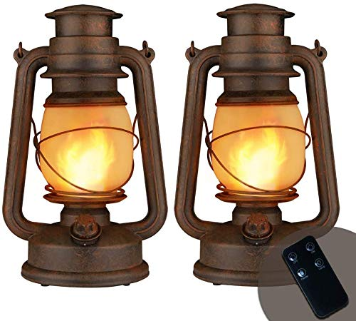 Yinuo Candle Flame Light Vintage Lantern, Flickering Camping Lantern Tent Light with Two Models LED Night Lights Decor for Patio Garden Party Outdoor...