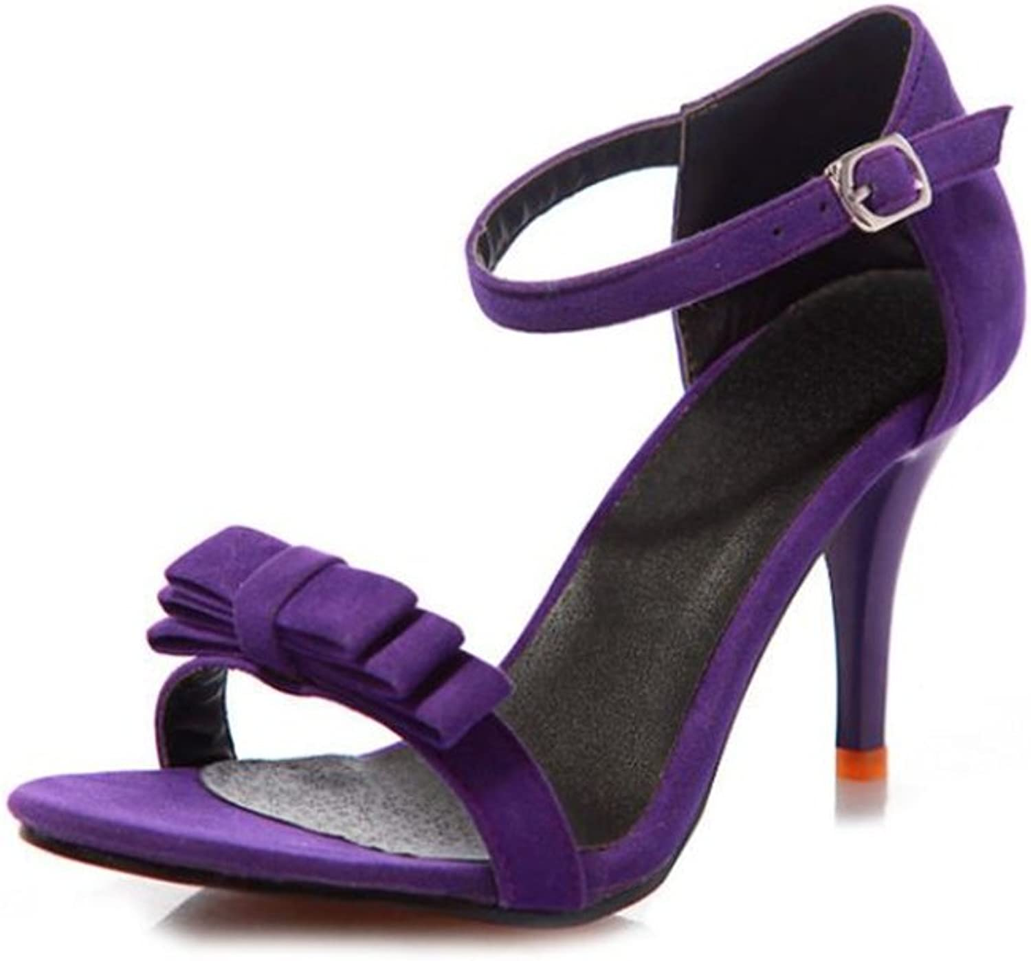 Women's Fashion Classic Bow Ankle Strap Buckle shoes high Heel Sandals