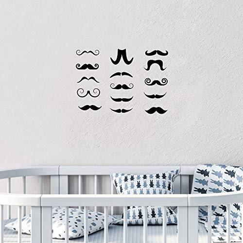 JW scherzt Aufkleber 15 / Set Sticker Moustache Autocollants Bébé Chambre Enfants DIY Decal Enfants Chambre Home Decor Intérieur