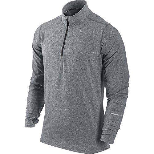 Nike Langärmliges Laufshirt Element 1/2 Zip, Maglia a Maniche Lunghe Uomo, Grigio (Anthracite/Heather/Black/Reflective Silver), XXL
