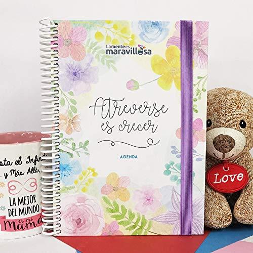 La Mente es Maravillosa - Agenda ETERNA Atemporal (Tamaño A5, Semana Vista) (Agenda 2020) - Diseño Flores