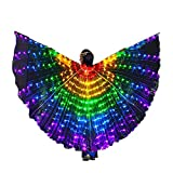SUPOW Belly Dance LED Wings, Butterfly Lighted Isis Wings Kids, Halloween Carnival Child Costume Color Angel Wings
