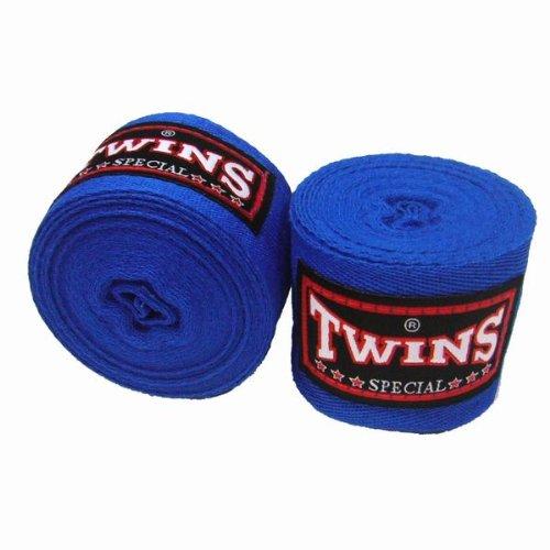 Twins Bandagen, rot, unelastisch, 5 m, handwraps, Wickelbandagen, Muay Thai, MMA
