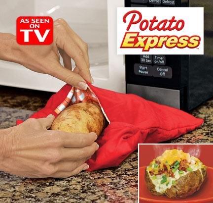 Stofzuigerzakken voor aardappelen, magnetron stoom