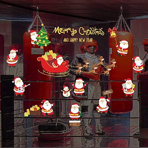 HNIMLL - Adhesivos decorativos para pared navideña, polvo dorado, para hombres, regalo, decoración principal, papel adhesivo, se pueden quitar 2 unidades