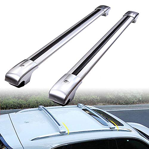 MotorFansClub Roof Racks Cross Bars Fit for Compatible with Ford Escape 2013-2018 Baggage Cargo Luggage Racks Rail Crossbars Lockable Aluminum (2 PCS)