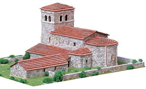 MAQUETA PIEDRA CERÁMICA TEMPLO-IGLESIA SAN ANDRÉS DE ARGOMILLA (CANTABRIA), AEDES REF 1109, ESCALA 1:65