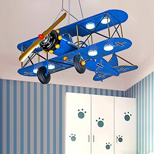 LITFAD Airplane Modern Art Deco Pendant Light Cartoon...