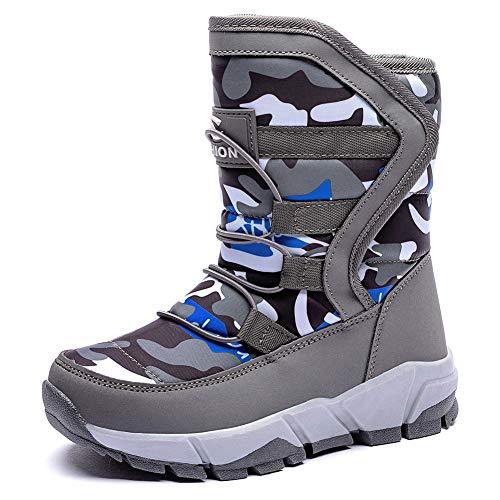 Crocs Kids' LodgePoint Snow Boot, Navy/Slate Grey, 5 M US Big Kid