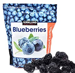 Blueberries Whole, dried, delicious blueberries in 20 ounce resealable bags. Use dried blueberries in muffins, pancakes, waffles, bagels, or in your morning oatmeal and cereal. Store dried blueberries away from heat and light for a longer shelf life.