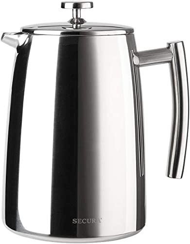 popular Secura French Press Coffee Maker, 50-Ounce, online 18/10 lowest Stainless Steel Insulated Coffee Press with Extra Screen outlet sale