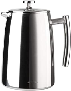 Secura French Press Coffee Maker, 50-Ounce, 18/10 Stainless Steel Insulated Coffee Press..