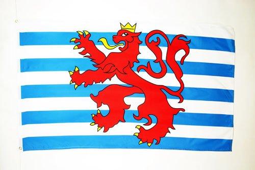 AZ FLAG Flagge Luxemburg MIT LÖWEN 90x60cm - LUXEMBURGISCHE Fahne 60 x 90 cm - flaggen Top Qualität