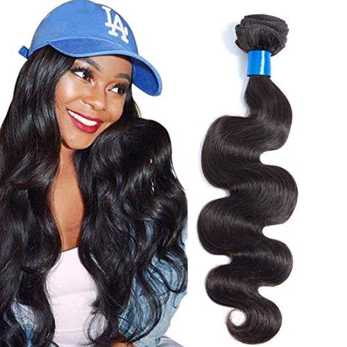 Cranberry Hair Brazilian Virgin Hair Body Wave Human Hair 26 Inch One Bundle Weave 100% Unprocessed Hair Extensions Natural Black Color (One Bundle)