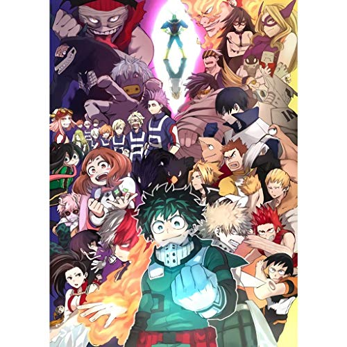Puzzle - My Hero Academia 300/500/1000/1500 Piezas Boku No Hero Academia Animado For El Regalo del Juguete Rompecabezas Kid Adultos Jigsaw (Color : C, Size : 500PC)