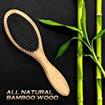 Bossman Boar and Nylon Bristle Hair and Beard Brush - Detangles & Straightens - Wooden Oval Wet Brush for Men 7