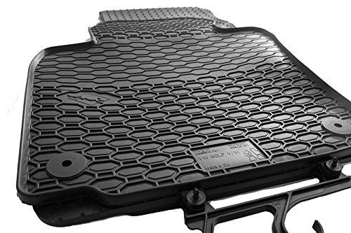 Gummimatten Gummi Fußmatten Set 4-teilig schwarz Passgenau