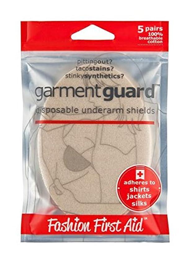 通り神経味付けガーメントガード Garment Guard:汗とりパッド、ベージュ、五組